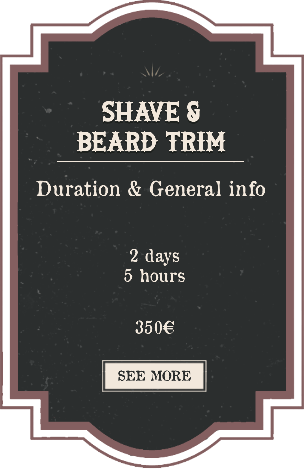 Shave & Beard Trim English